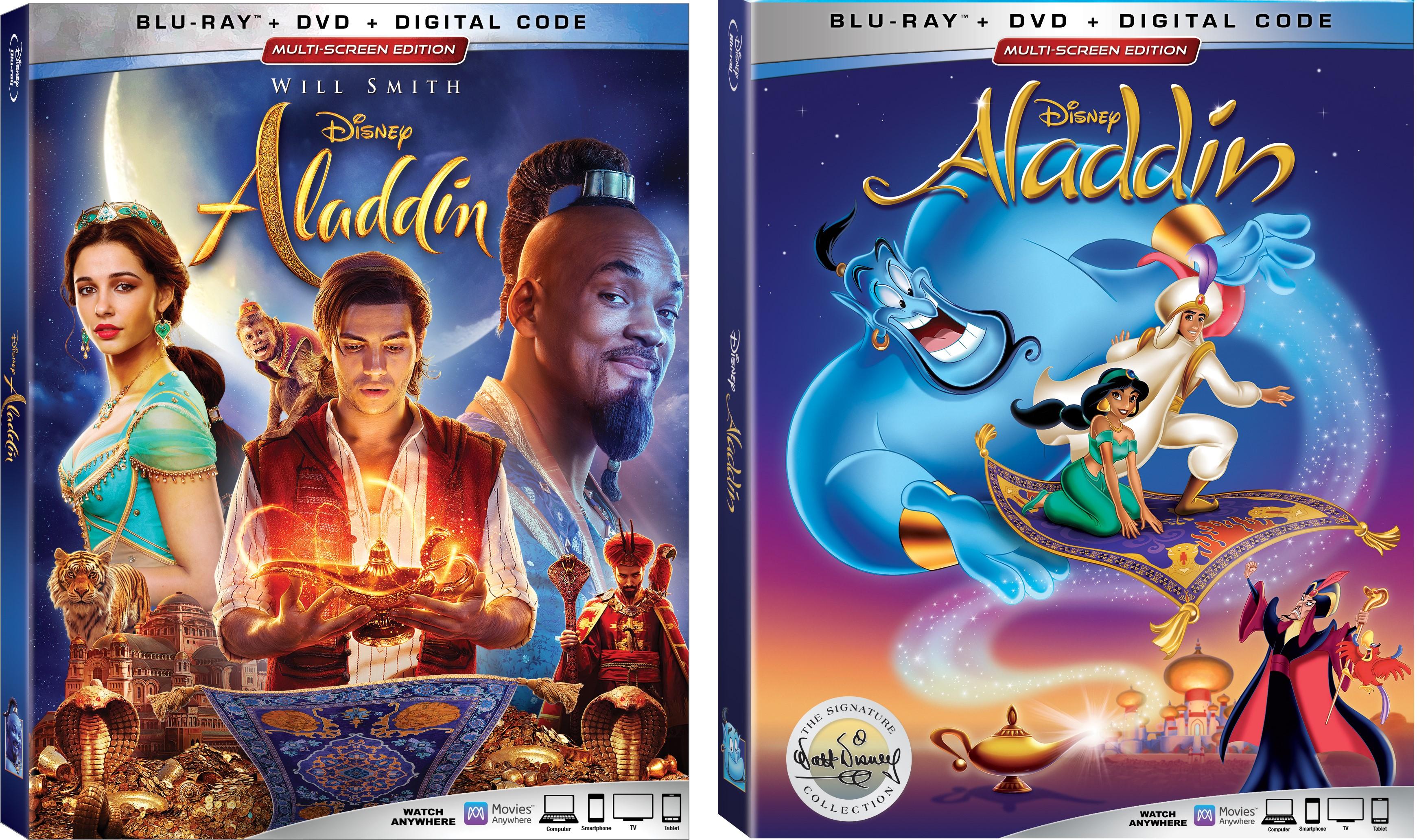 Blu Ray Review Giveaway Aladdin 2019 And Aladdin
